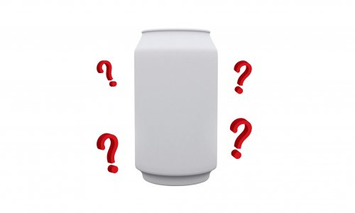 white can and white background for designer